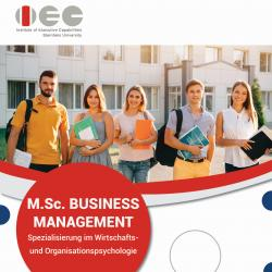 Business Management (Spezialisierung: Wirtschafts- und Organisationspsychologie)