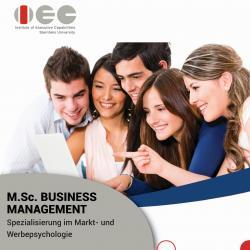 Business Management (Spezialisierung: Markt- und Werbepsychologie)